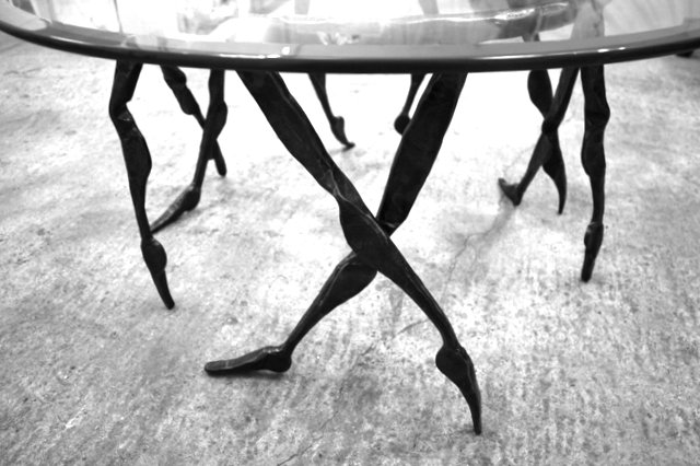 coffee table legs bc blacksmith. Black Bedroom Furniture Sets. Home Design Ideas